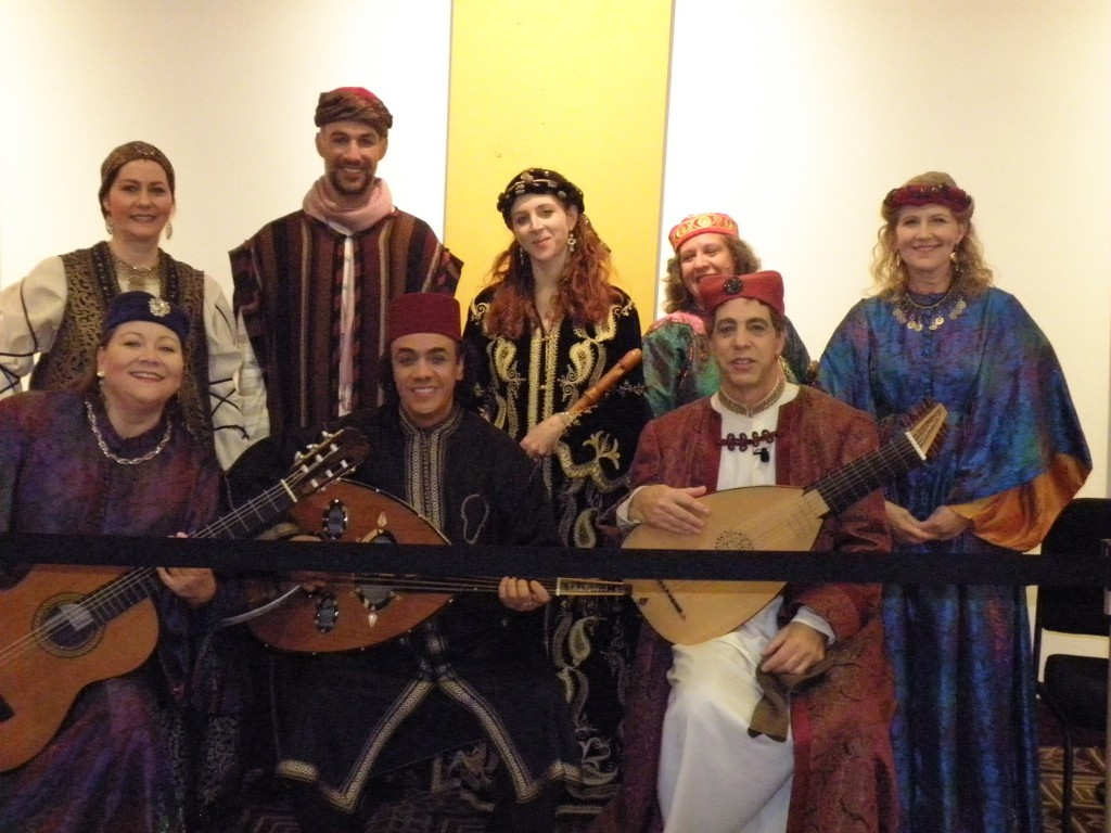 Trio Sefardi with Layali al Andalus, Melissa Carter (left, seated) and Elisabeth Myers (standing. left), Revels December 2011