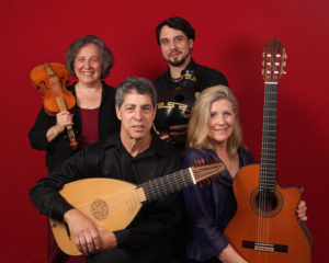 Trio Sefardi (Tina Chancey, Howard Bass, Susan Gaeta) with guest percussionist Brian Kay.